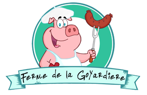 Ferme de la Goyardiere, logo, Corbelin, vente de viande de boeuf et porc